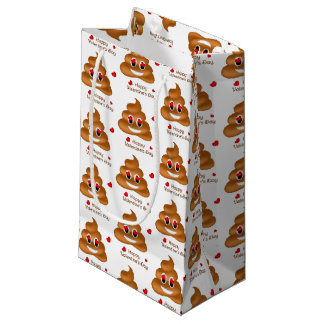 Smiling Love Poop Emoji Valentine's Day Gift Bag