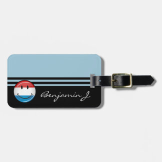 Smiling Luxembourg Flag Luggage Tag