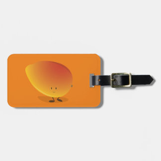 Smiling Mango Character Luggage Tag