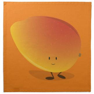 Smiling Mango Character Napkin