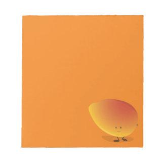 Smiling Mango Character Notepad