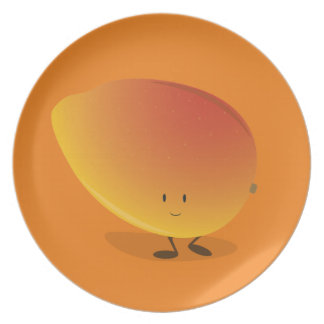 Smiling Mango Character Plate