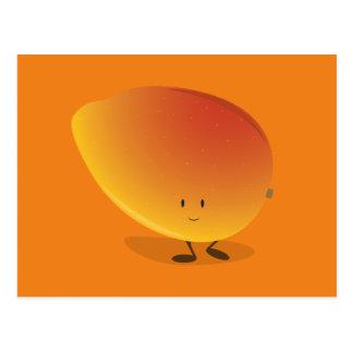 Smiling Mango Character Postcard