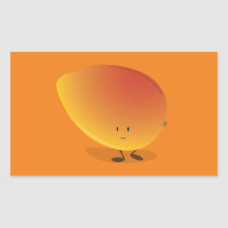 Smiling Mango Character Sticker