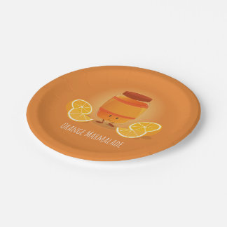 Smiling Marmalade Jam | Paper Plate