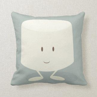 Smiling marshmallow throw pillow