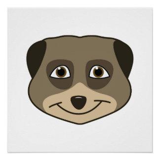 Smiling meerkat design perfect poster