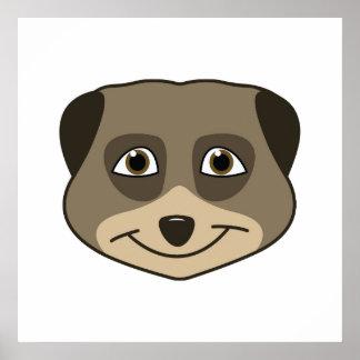 Smiling meerkat design poster