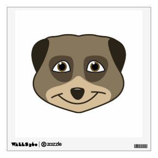 Smiling meerkat design wall sticker