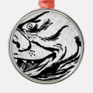 Smiling Monster Metal Ornament