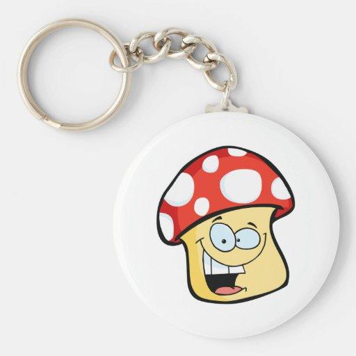 Smiling Mushroom Cartoon Character Key Chains