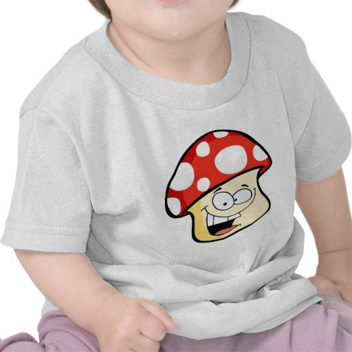 Smiling Mushroom cartoon Tshirts