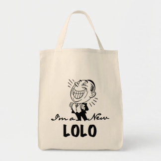 Smiling New Lolo T-shirts and Gifts Grocery Tote Bag