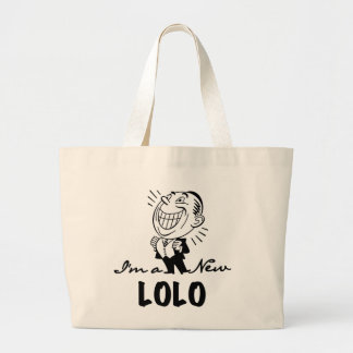 Smiling New Lolo T-shirts and Gifts Jumbo Tote Bag