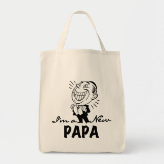 Smiling New Papa T-shirts and Gifts Tote Bags