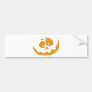 Smiling Orange Jack 'O Lantern Halloween Pumkin Bumper Sticker