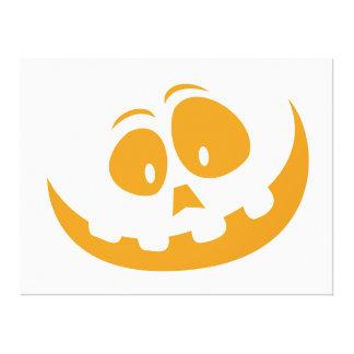 Smiling Orange Jack 'O Lantern Halloween Pumkin Canvas Print