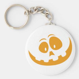 Smiling Orange Jack 'O Lantern Halloween Pumkin Keychain