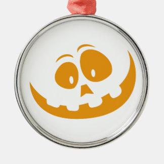 Smiling Orange Jack 'O Lantern Halloween Pumkin Metal Ornament