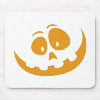 Smiling Orange Jack 'O Lantern Halloween Pumkin Mouse Pad