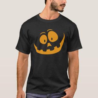 Smiling Orange Jack 'O Lantern Halloween Pumkin T-Shirt