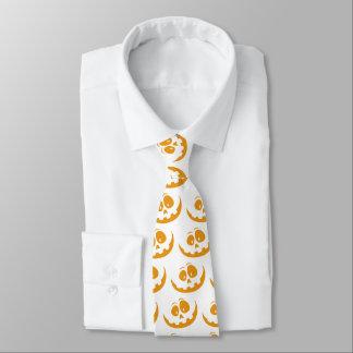 Smiling Orange Jack 'O Lantern Halloween Pumkin Tie