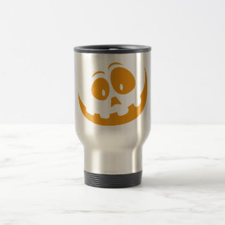 Smiling Orange Jack 'O Lantern Halloween Pumkin Travel Mug
