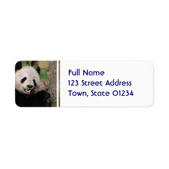 Smiling Panda Bear Return Address Label