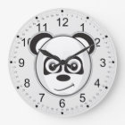 Smiling Panda Large Clock