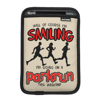 Smiling parkrun this weekend (blk) sleeve for iPad mini