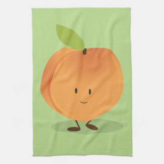 Smiling Peach Kitchen Towel