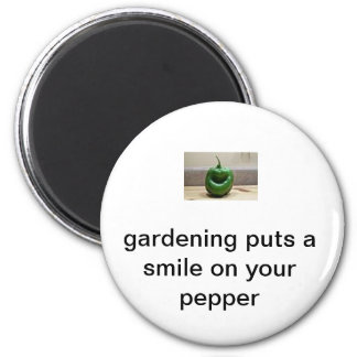 smiling pepper magnet