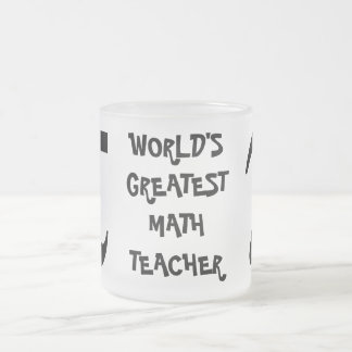 Smiling PI World's Greatest Math Teacher Glass Mug