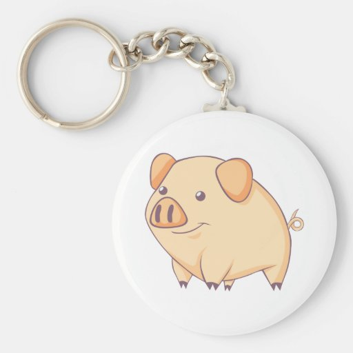 Smiling Pig Keychain
