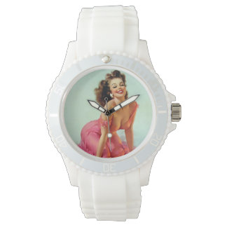 Smiling Pin Up Watch
