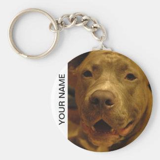 Smiling Pitbull Keychain