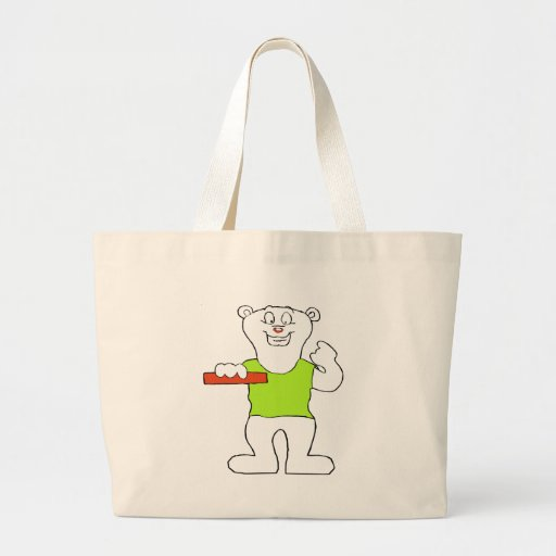 Smiling Polar Bear Tote Bags
