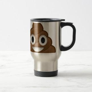 Smiling Poop Emoji Travel Mug