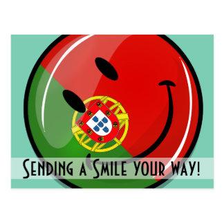 Smiling Portuguese Flag Postcard