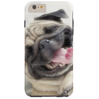 Smiling pug.Funny pug Tough iPhone 6 Plus Case