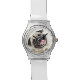 Smiling pug.Funny pug Watches
