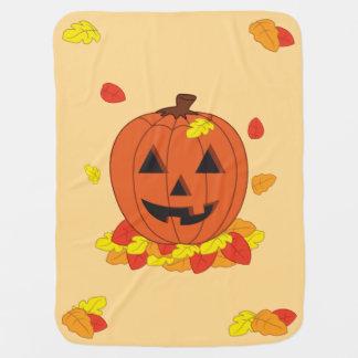 Smiling Pumpkin Baby Blanket