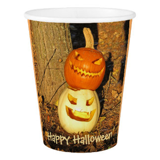 Smiling Pumpkin Buddies Party Cups Paper Cup