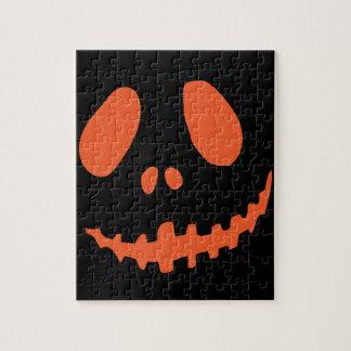Smiling Pumpkin Face Jigsaw Puzzle