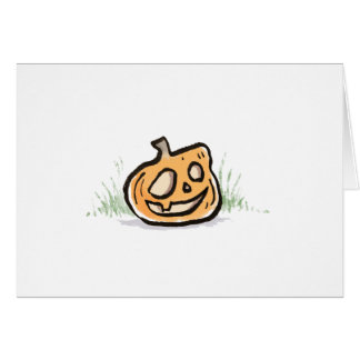 Smiling Pumpkin Greeting Card {Halloween}