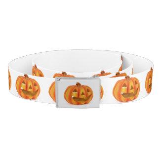 Smiling Pumpkin Jack O Lantern Halloween Belt
