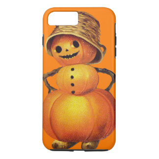 Smiling Pumpkin Snowman Orange iPhone 8 Plus/7 Plus Case