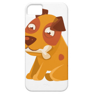 Smiling Puppy Holding A Bone In The Mouth Case For The iPhone 5