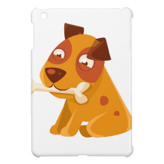 Smiling Puppy Holding A Bone In The Mouth iPad Mini Cover