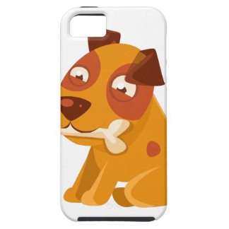 Smiling Puppy Holding A Bone In The Mouth iPhone 5 Cover